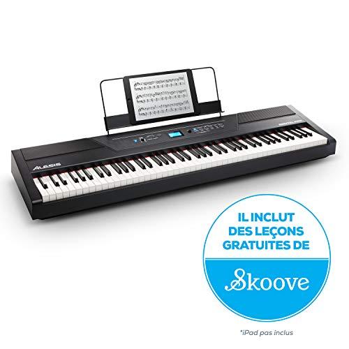 Alesis Recital PRO - Piano Numérique / Clavier avec 88 Touches à Mécanique de Marteau, 12 Voix...