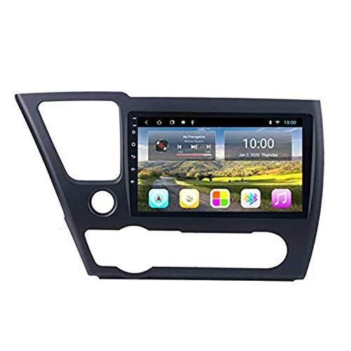 Android 9.0 Coche Estéreo para Honda Civic 2014-2017 Radio 9 pulgadas HD Pantalla táctil GPS Navigation Media Player Receptor con enlace de espejo FM AM Turing Wheel Control,4 core 4g+wifi: 1+32gb