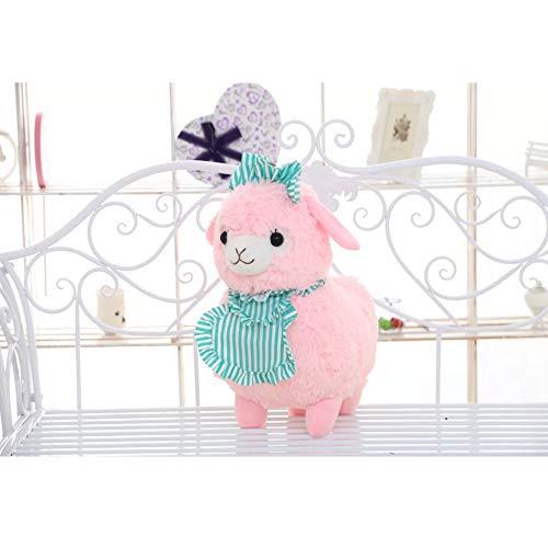 Morbuy Peluche Relleno, Alpaca de Peluche Juguete de Peluche Suave Lindo Animals 45cm, Mejores Regalos para niños (rosa-45cm)