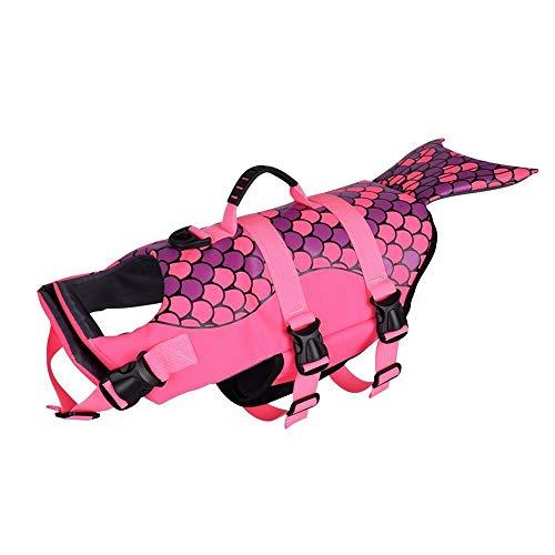 DYHM Hunde Bekleidung Art-Sommer-Hundelebensweste-Hundeweste-Geschirr-Badeanzug-Kleidung-Haustier-Floss-Mantel-Lebensretter-Hundeschwimmweste ##F4545 (Color : Pink, Size : M)
