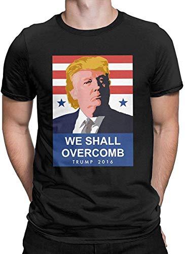 We Shall Overcomb Donald #Trump 2020 T Shirt Sweatshirt Hoodie for Men Women Black