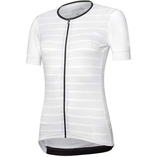 rh+ Maglia Ciclismo Stripes Donna, Bianco, L