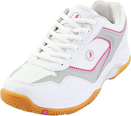 Ultrasport Sport Indoor Schuh, Zapatillas de Deporte Mujer, Blanco/Rosa, 37
