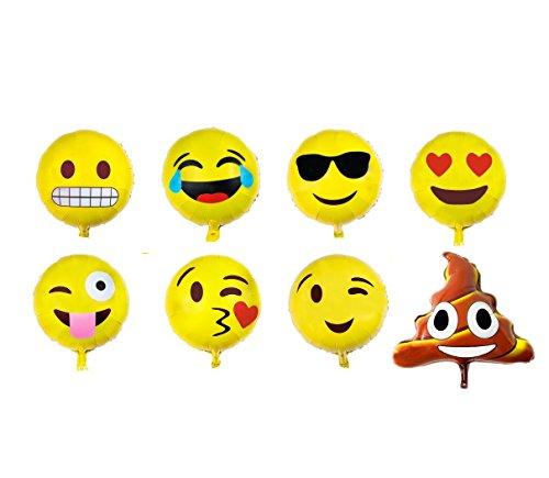 Emoji Balloons Birthday Party - Set of 16