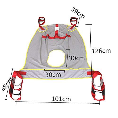 41MF1lYT3dL - QBWASY Cinturón de Transferencia médica de elevación,Paciente Cinturón De Transferencia para Bariátrico, Enfermería,Anciano, Discapacitado, Cuerpo Completo Y Postrado En Cama