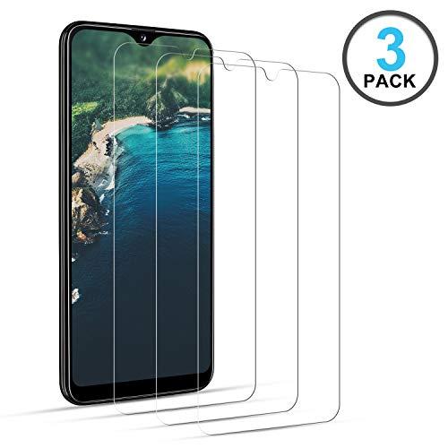 DOSNTO Samsung Galaxy A20 Protector de Pantalla 3 Unidades, Anti-rasguños Cristal Templado, Templado película Protectora, Advanced HD Fingerprint Free