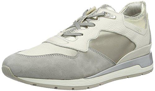 Geox D Shahira B, Zapatillas Mujer, Gris (Off White/LT GREYC0856), 40 EU