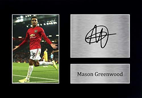 HWC Trading Artículos De Embalaje Mason Greenwood Manchester United Manchester United Imagen Impresa Autógrafos para El Ventilador Y Partidarios - A4