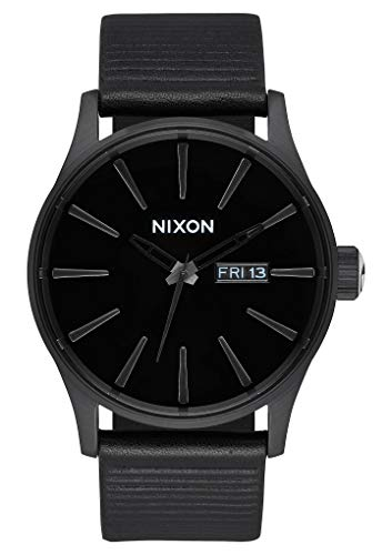Nixon Herren Analog Quarz Smart Watch Armbanduhr mit Leder Armband A105-1147-00