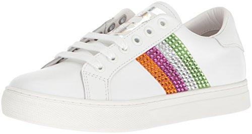 Marc Jacobs Women's Empire Strass Low TOP Sneaker, Pink/Multi, 35 M EU (5 US)