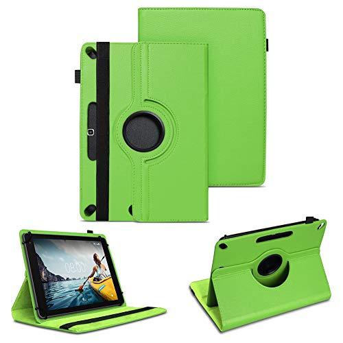 NAUC Tablet Tasche für Medion Lifetab P10710 P10610 P10603 P10606 P10602 P9702 Hülle Schutzhülle Universal Kunstleder Standfunktion 360 Drehbar, Farben:Grün