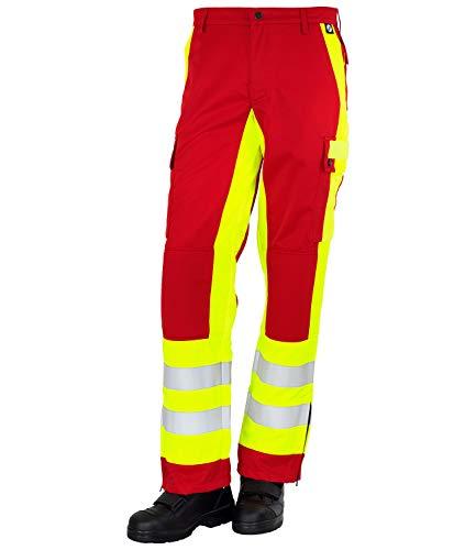 GSG build to protect Magnus ISO20471 - Pantalones reflectantes (clase 1) rojo y amarillo 2 mes