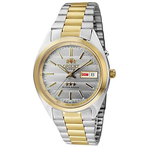Relógio Masculino Orient Automático 469wc1 B1ks Prata/Dourado