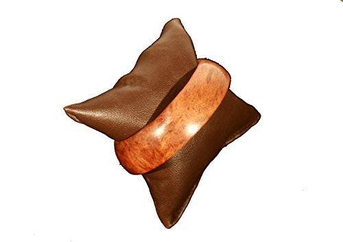 Trendofindia Schmuck Armreif aus poliertem Holz Ø 7 cm - Armschmuck Mittelalter Afrika Style