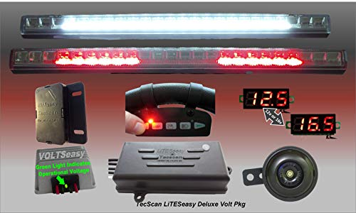 Best Price! TecScan LiTESeasy Deluxe Remote Control Golf Cart LED All Signals Light Kit W/Voltage Re...