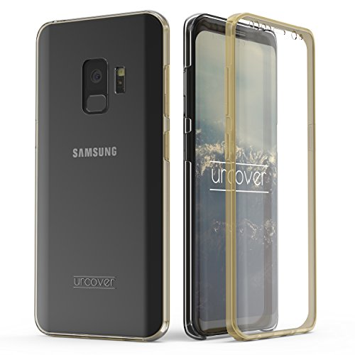 Urcover Kompatibel mit Samsung Galaxy S9 Hülle I Original berühmt durch Galileo I Hard-Edition I QI-Fähig R&um 360° Schutzhülle Hülle Champagner Gold
