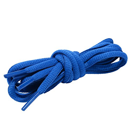 Shoelaces Oval Half Round 1/4quot Shoes Lace 2 Pair for Sneakers and Casual shoes Shoelaces Replacements 30quot inches 76 cm Blue