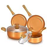 6-piece Non-stick Cookware Set Pots and Pans Set for...