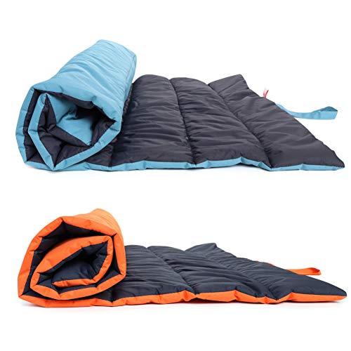 DIANZI Bed Dog Bed Deken voor Grote Honden Opvouwbare Huisdier Kussen Deken Matress Hond Slaapmatten Slaapbank Huis Cover Waterdicht, Oranje, 65x108cm