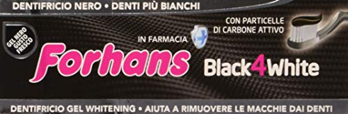 Forhans BLACK4WHITE dentifricio al Carbone Attivo - 75 ml