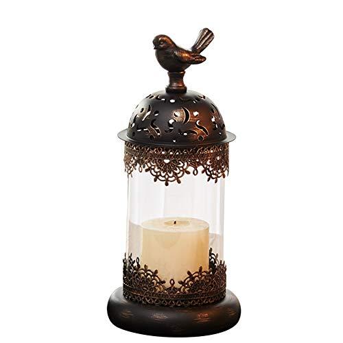 Miyabitors Europäische Leuchter, Schmiedeeisen Hohle Hauptdekoration Verziert, Retro Hauptdekor Requisiten, Abendessen Romantische Candle-Light Mit Kerzen Dekoriert (Size : 30cm)