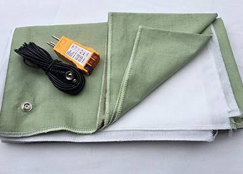 30x80 in GREEN Grounding / Earthing Conductive Fabric / Sheet. Fits...