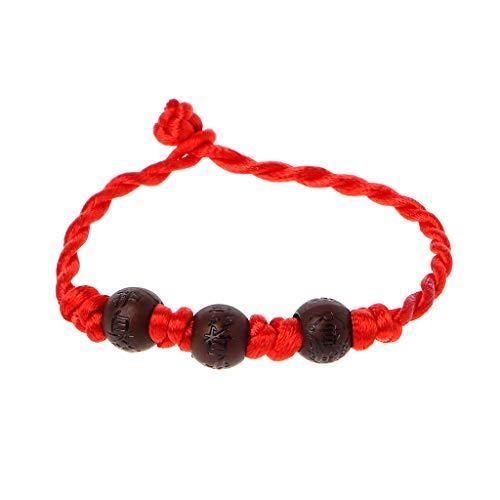 La Kabbale Rouge String Lucky Charms Bracelet Mauvais Oeil Hamsa en Cuir Argenté Bracelet