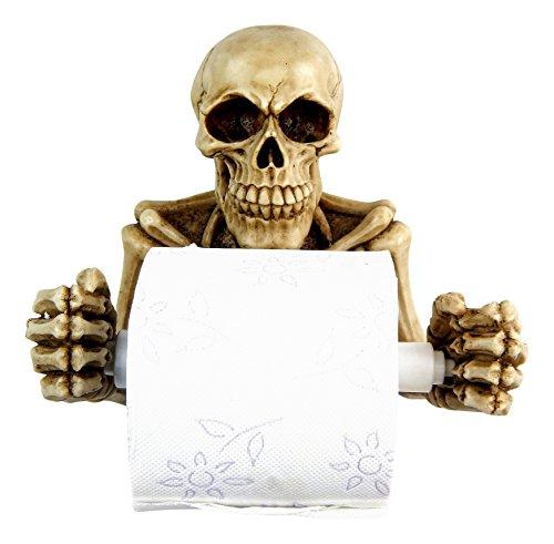 Toilettenpapierhalter Totenkopf Skelett Schädel Skull WC Papier Halter