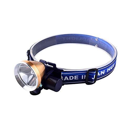 LGF Helmet Vélo Camping tête Torche Sports de Plein air éclairage projecteur LED lumière Pratique Lampe Frontale Nuit Lecture Peut Charger phares lumière Blanche dorée