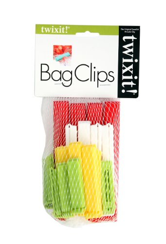 Linden Sweden Twixit! Bag Clips - Set of 20 - Keep Food Fresh, Prevent Spillage - Great for Storage and Organization - Microwave, Freezer and Dishwasher-Safe - BPA-Free