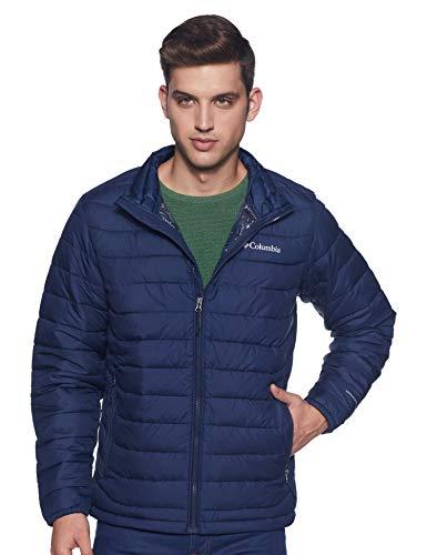 Columbia Men's Powder Lite Winter Jacket, Water repellent, Collegiate Navy, Small