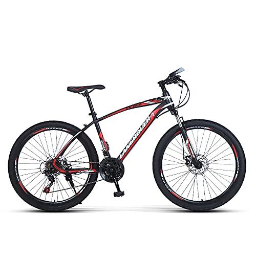 Sanhai Bicicleta De Montaña 27-Speed Light Mountain Bike Double Disc Freno Frente Frente Frente Free Frente Es Adecuado para Adultos, Adolescentes,Rojo