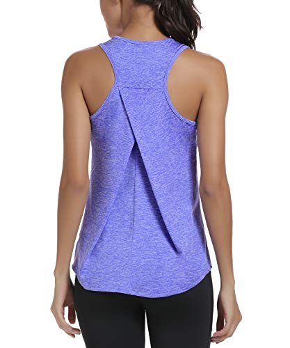 HLXFHB Workout Tank Tops for Women Gym Exercise Athletic Yoga Tops Racerback Sports Shirts Purple