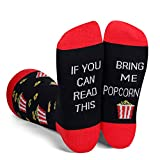 Funny Saying If You Can Read This Bring Me Popcorn Socks-Funny Novelty Popcorn Gifts For Men Popcorn Lovers