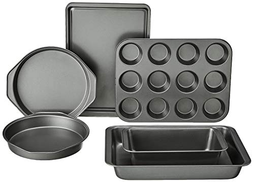 Amazon Basics 6-Piece Nonstick, Carbon Steel Oven Bakeware Baking Set