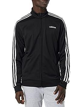 adidas Men's Essentials 3-stripes Tricot Track Jacket Black/White Large