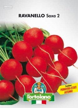 Sementi orticole di qualità l'ortolano in busta termosaldata (160 varietà) (RAVANELLO SAXA 2)