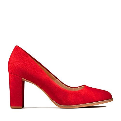 Clarks Kaylin Cara, Zapatos de Tacón para Mujer, Rojo (Red Suede Red Suede), 39 EU