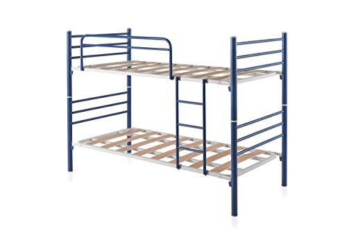 Litera Desmontable Lama Ancha Doble Refuerzo Central | 8 Láminas por somier | 4 Puntos de seguridad | Estructura desmontable diámetro 50mm | Fabricación Nacional | Model Bunk Removable (90 x 190 cm)