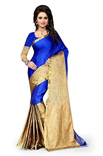 Indian bollywood wedding saree indisch Ethnic hochzeit sari new kleid damen casual tuch birthday crop top mädchen cotton silk women plain traditional party wear readymade Kostüm (blue 2)