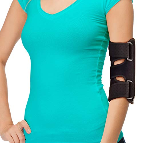 Elbow Splint Comfortable Elbow Brace – Cubital Tunnel Brace for Sleeping or Ulnar Nerve Entrapment Brace. Elbow Support & Arm Straightener Night Time Elbow Immobilizer for Elbow Pain (Fits Most)