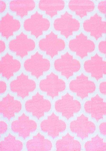 Nuloom 3' x 5' Faux Sheepskin Shaunna Rug in Pink