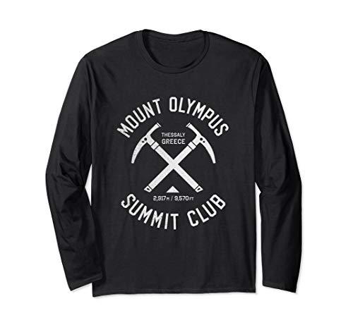 Mount Olympus Summit Club | I climbed Mount Olympus Greece Long Sleeve T-Shirt