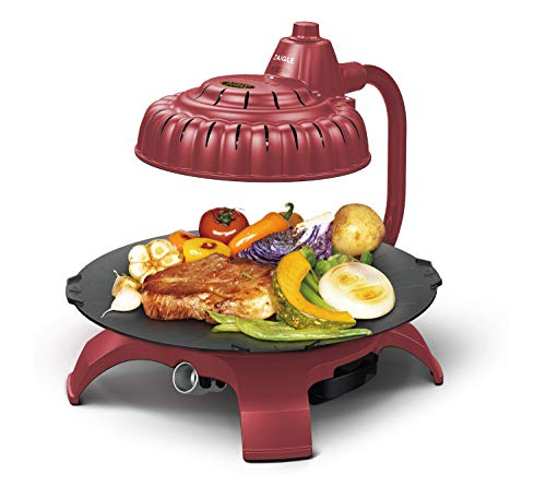 Zaigle ZG-HU375 Handsome Infrared KBBQ Electric Grill, 120v, 3 pans, tongs included (Red) Subjects