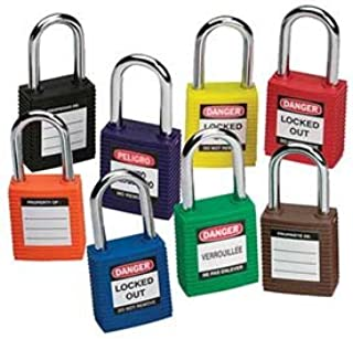 PART NO. WHB51339 Brady 51339, Safety Padlock - Keyed Different, Red, 1/4 x 1-1/2