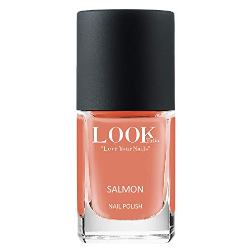 Look to go Nagellack NP 048 Salmon 12ml I Lachsfarbener Farblack mit toller Deckkraft I vegan & 13-free I Made in Germany