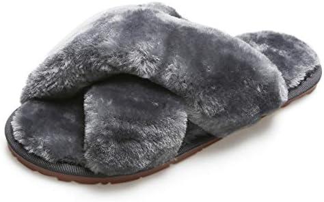 Solyinne Women's Slippers Cute Fuzzy Slippers for Women Leopard Home Slippers Tie-dye Fleece Fur Boys Girls Adult Toddler Open Toe House Shoes