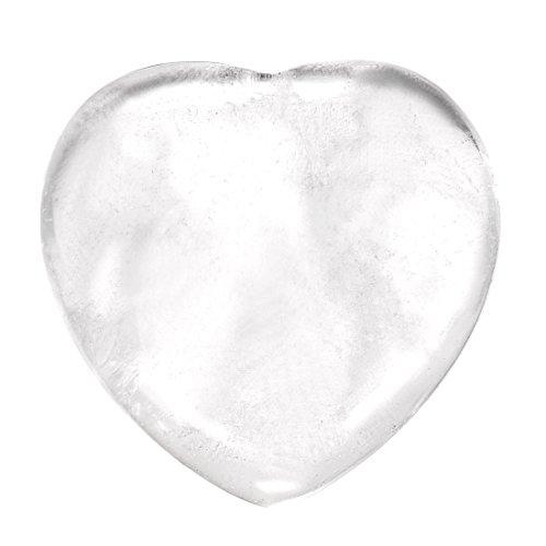 Morella edelsteen bergkristal hart geluksbrenger stenen hart om mee te nemen 3 cm in fluwelen zakje