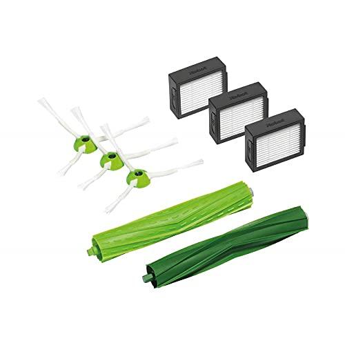IRobot Accessoire Officiel - Kit d'entretien pour Roomba de série e et i - 3 brosses latérales - 3 filtres haute efficacité - 1 paire de brosses d'ext