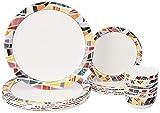 Amazon Brand - Solimo Melamine Dinnerware Set (18 pieces)